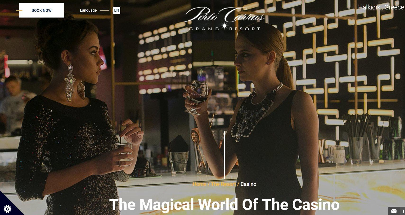 Η ιστοσελίδα του Porto Carras Casino